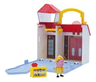 Peppa Pig Playset Estacion Bomberos Figura Juguete Original
