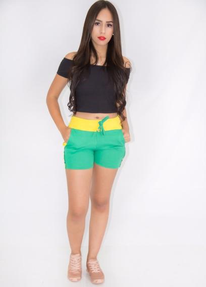 Kit 6 Shorts Tipo Moletom Moda Coloridos Promoçao