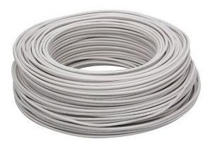 Rollo 100 Mts Cable Thw 10 Cu 100% Cobre. Blanco Marca Cabel