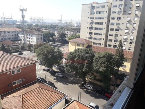 Apartamento Com 2 Dormitórios À Venda, 128 M² Por R$ 379.000,00 - Embaré - Santos/sp - Ap0133