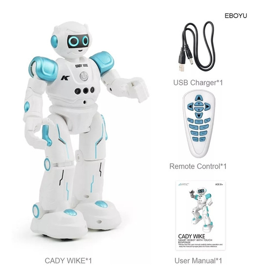 Robô Cady Wida Dança Anda Emite Sons Bateria Recarregavel