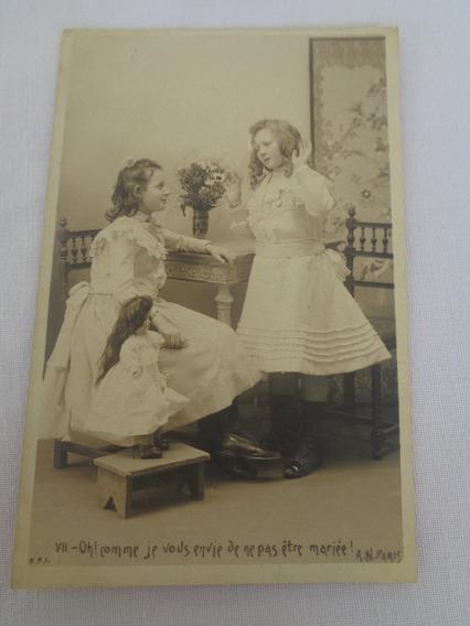 Cartão Postal Brinquedo Antigo Boneca 05#