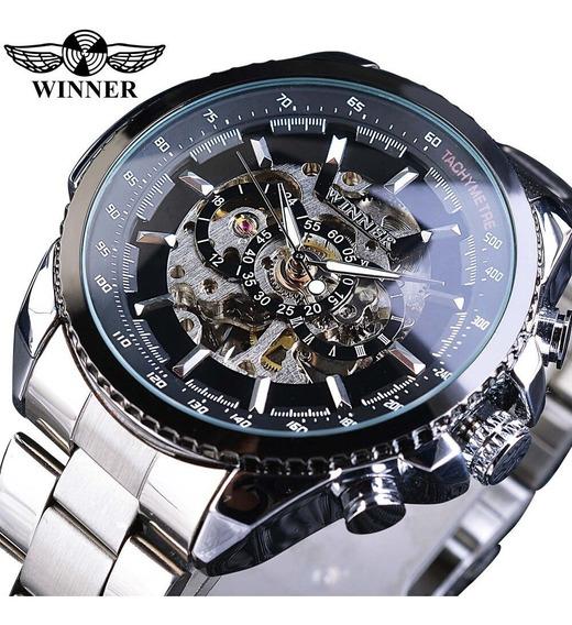 Vencedor Design Esporte Bezel Relógio Dourado Mens Relógios