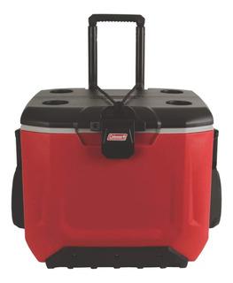 Caixa Térmica Coleman Rugged C/ Rodas 55 Qt 52lt Vermelha
