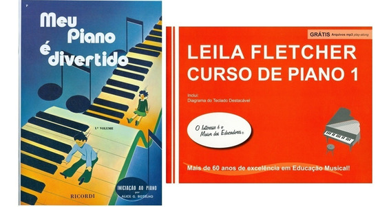 Kit Meu Piano E Divertido Vol1 + Curso Leila Fletcher Vol1