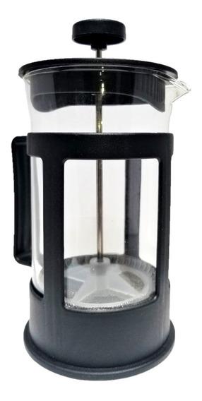 Cafetera Prensa Francesa Negra 600ml Para 2 Tazas De Café/té