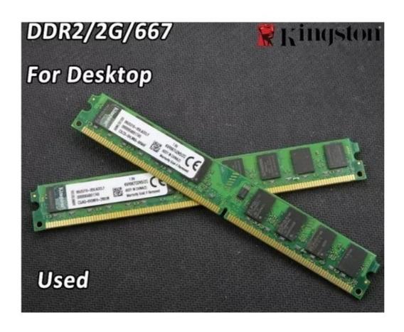 Memórias Kingston 2gb Ddr2 Pc2-5300 667 1pentes 2gb Seminovo