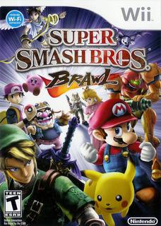 Juego Nintendo Wii Smash Bros Brawl - Refurbished Fisico