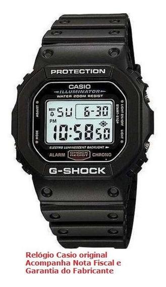 Relógio De Pulso Casio Masculino G-shock Dw-5600e-1vdf
