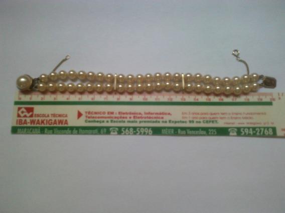 Bracelete De Pérolas De 6 Mm Em Ouro Português 22k 925