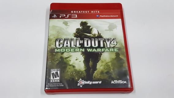 Jogo Call Of Duty 4 Modern Warfare - Ps3 - Original