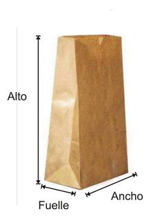 Bolsas Delivery Papel Kraft (madera Ecológica) Nro 2 X 100
