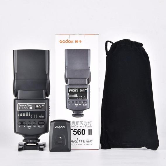 Flash Godox Tt560ii Com Transmissor Rf Canon/nikon (nfe)