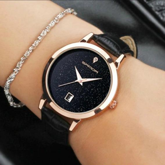 Relógio Feminino Analógico Quartzo Sanda Luxo