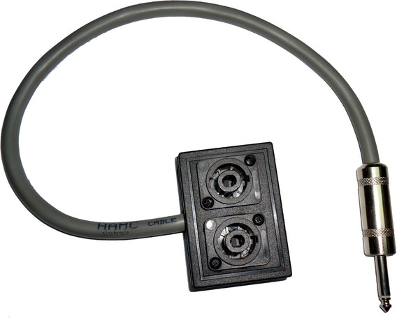 Cable Pro Plug 6,5 Mono A Dos Speakon Hembra Hamc