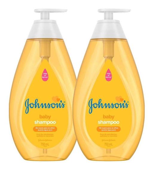 Kit Com 2 Shampoos Johnsons Baby Regular 750ml