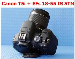 Canon T5i + Lente 18 - 55 - Câmera Digital Semiprofissional