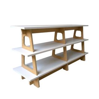 Mueble Melamina Lino Blanco 70 X 135 X 40 Cm