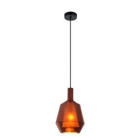 Pendente Moderno 1 Lâmpada Doppio Vidro Bronze 16cm +luz