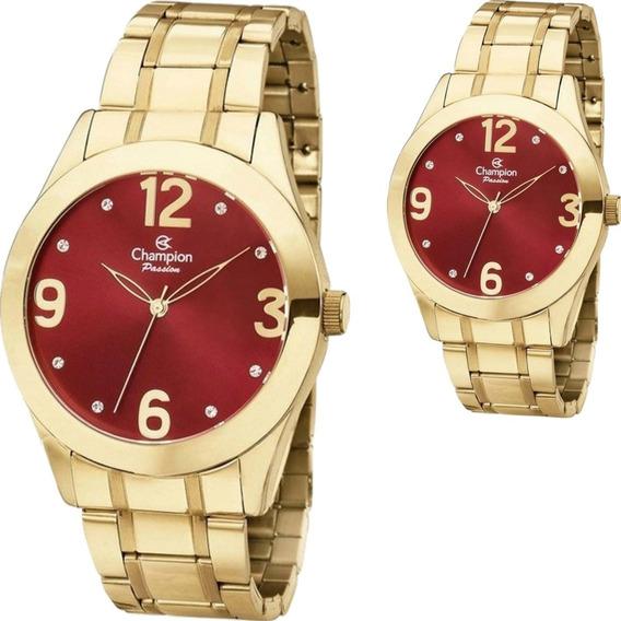 Relógio Feminino Champion Mostrador Vermelho Ch24268i