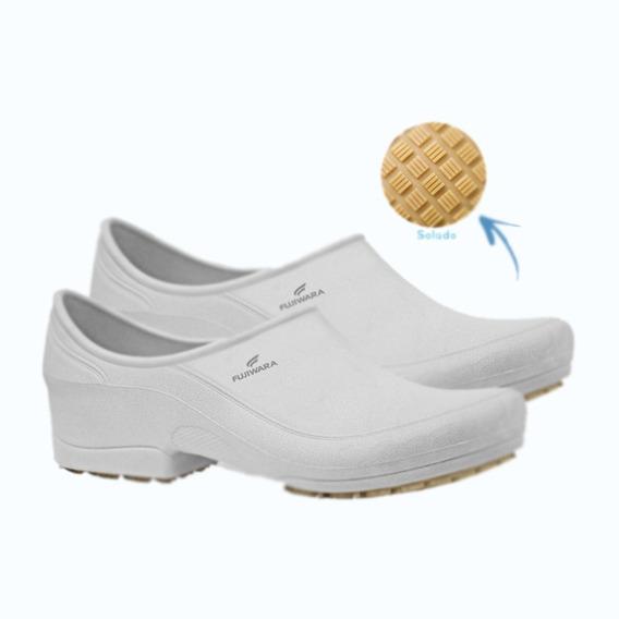 Sapato Antiderrapante Fujiwara Moov Branco Ca38590 Promoçao