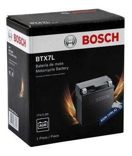 Bateria Moto Ytx7l-bs Btx7l-bs 12v 6ah Bosch
