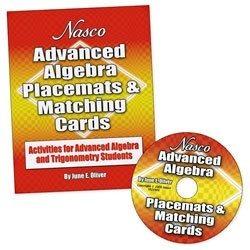 Nasco Tb21906t Algebra Placemats Y Tarjetas A Juego, Grados