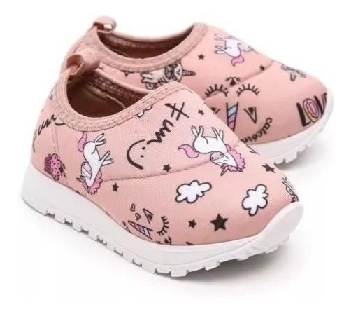 Tênis Infantil Molekinha Desenho Unicórnio Calçado Menina