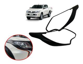 Bisel Protector Negro Optico Mitsubishi New L200 2016-2019
