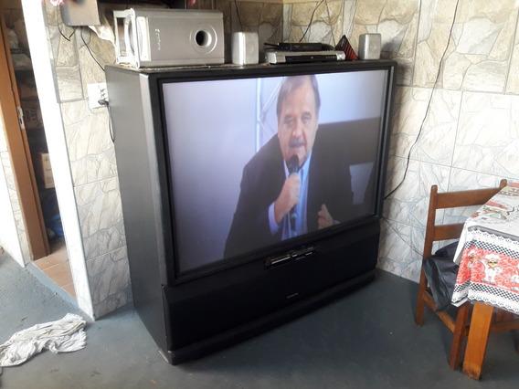Tv Projeção Pionner Colorida De 60 Polegadas