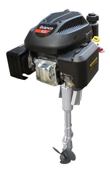 Rabeta Vertical Com Motor A Gasolina 6,0 Cv Branco