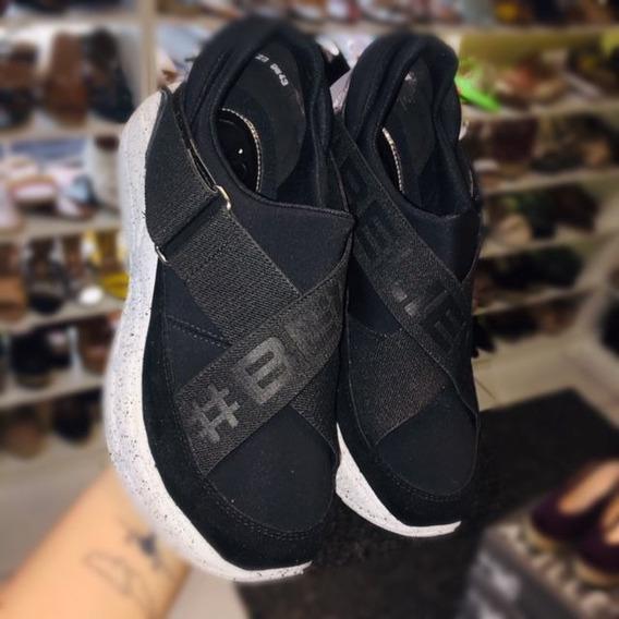 Chunky Sneaker Orcade Em Tecido Neoprene Preto 084514