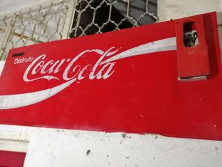 Letrero De Lámina Coca-cola De 1988 Con Destapador Original