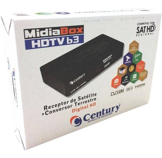 Receptor Midiabox B3 Century Assista + 58 Canaius Midia Box