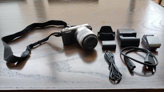 Câmera Sony Nex-c3 16.2 Mpx - Com Lente Obj - Com Bolsa Sony