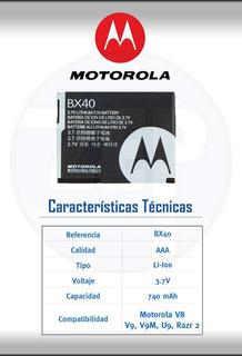 DescriçãoBateria Motorola Bx40 V8 V9 V9m U9 Zn5 I9 Nextel