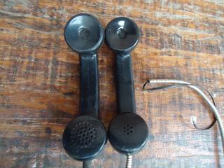 2 Pecas Gancho Telefone Baquelite Orelhao Acessório Antigo