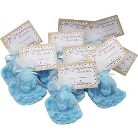 Lembrancinha Sabonete Anjinho Com Tag - Azul 30 Unidades