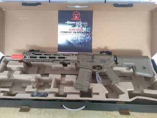 Rifle De Airsoft Ares Amoeba M4 Am 009 Tan + Nf