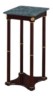 Mesa Pedestal Lateral Cuadrad Para Adornos O Teléfono Marmol