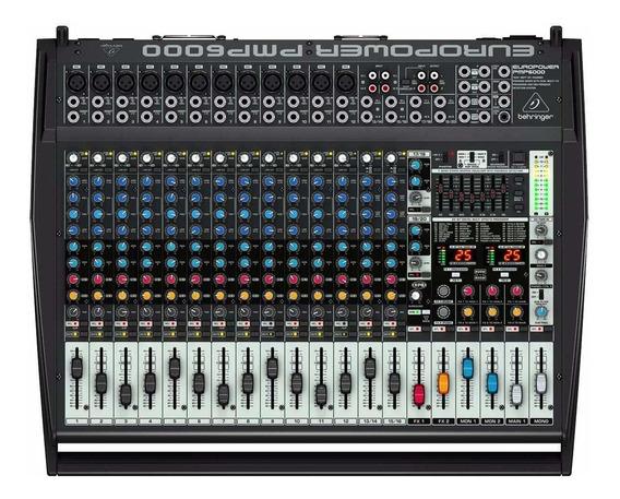Mesa De Som Amplificada Behringer Pmp6000 20 Canais 1600 W