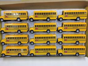 Kit Caixa Miniatura Ônibus Escolar Caixa Com 12 Unidades