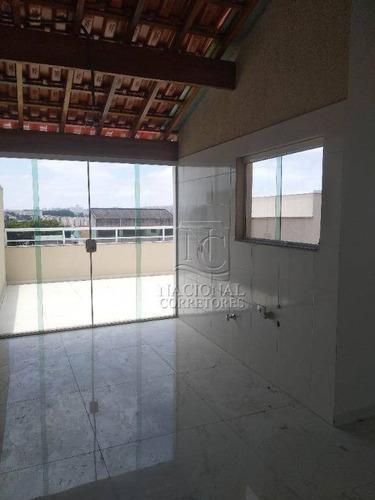 Cobertura À Venda, 98 M² Por R$ 310.000,00 - Parque João Ramalho - Santo André/sp - Co3855