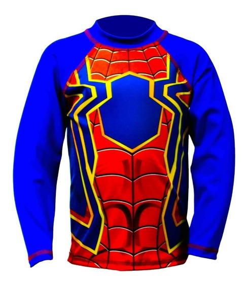 Franela Protección Uv Para Niños! - Spider-man