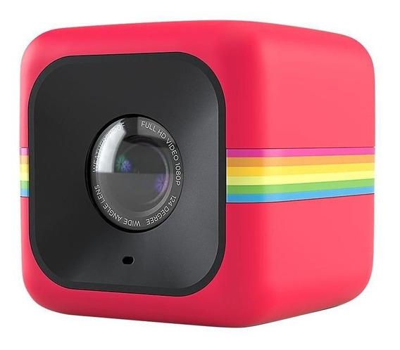 Câmera De Ação Full Hd Cube Polaroid Preta - Usada