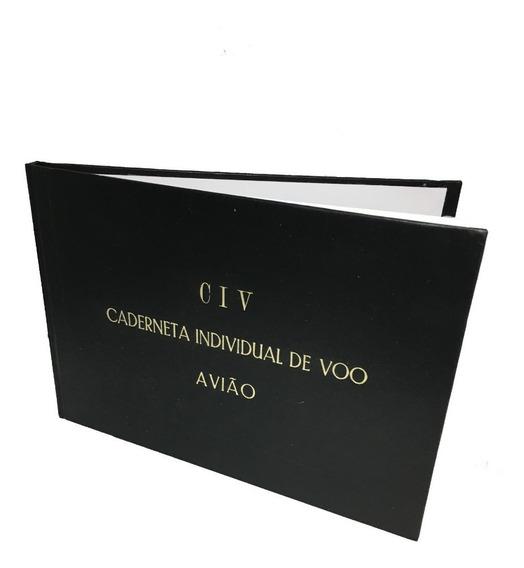 Civ - Caderneta Individual De Vôo - Avião Capa Dura