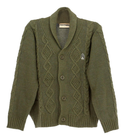 Sweater Algodon/acrilico Viejito Deep Lichen Green Hush Pupp