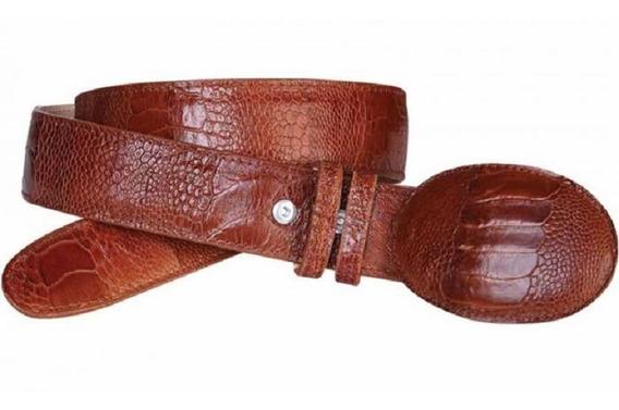 Cinturón Vaquero Piel Exótica Pata De Avestruz Original