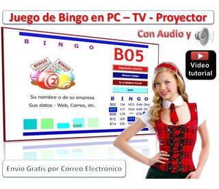 Juego De Bingo Para Pc Con Voz, Crea Cartones + Publicidad