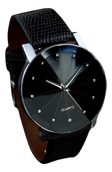 Relógio Feminino Prisma Quartzo Diamante Negro Python